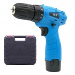 VOTO 12V Stepless Speed Regulation Rechargeable Hand Drill Set Electric Drill Power Tools with LED Light, AC 220V, US Plug, Rand