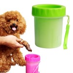 Pet Antiseptic Products Silicone Wash Feet Cleaning Cup Size: S (Green)