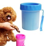 Pet Antiseptic Products Silicone Wash Feet Cleaning Cup Size: S(Blue)