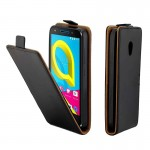 For Alcatel U5 TPU Business Style Vertical Flip Protective Leather Case with Card Slot (Black)