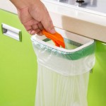 Garbage Bags Stent Can Hang Kitchen Cupboard Door Back Style Trash Garbage Bags Frame, Size: 22*10.2cm