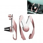 ROCK AutoBot M Air Vent Car Mount, For iPhone, Galaxy, Huawei, Xiaomi, Lenovo, Sony, LG, HTC and Other Smartphones(Rose Gold)